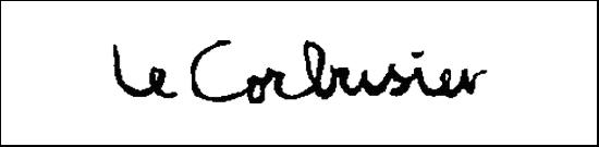 the signature of architect Le Corbusier