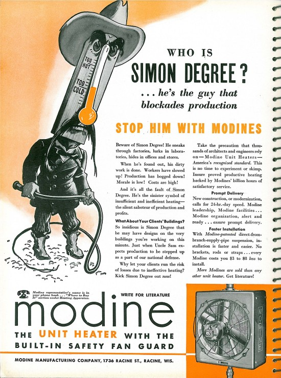 Modine Unit Heater Ad Architectural Forum Magazine
