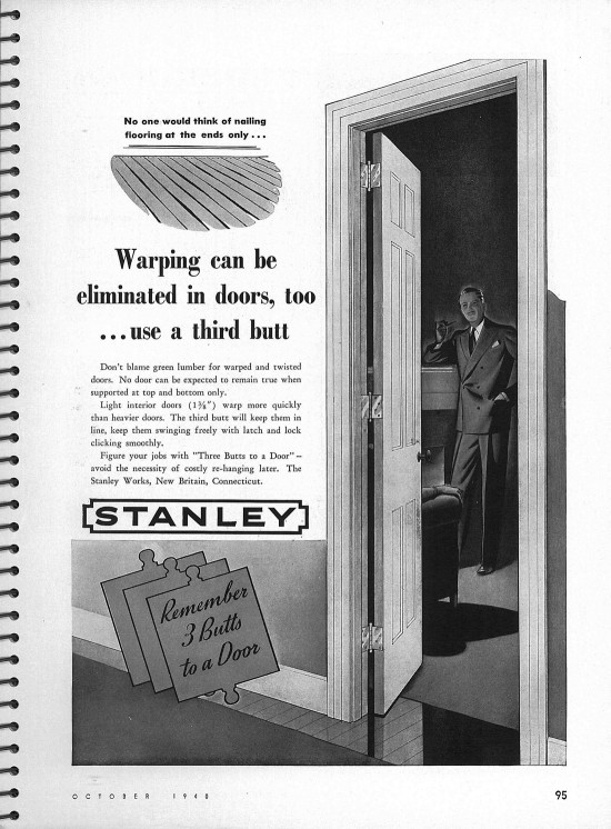 Stanley Hardware Ad Architectural Forum Magazine