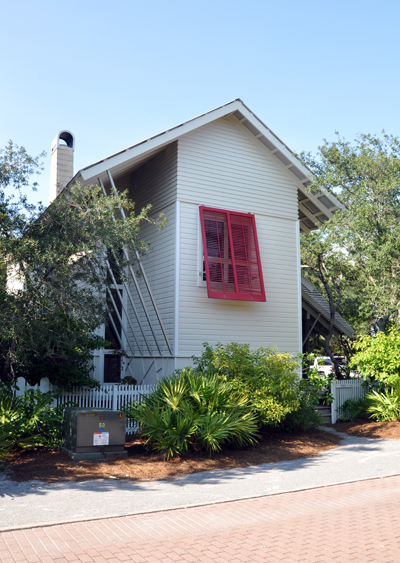 Mockbee Cocker Seaside House Street Elevation 2