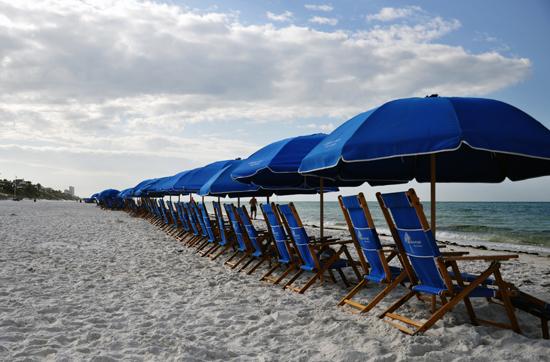 Seaside beach chairs