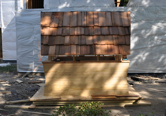 Playhouse cedar roof - Dallas CASA Parade of Playhouses