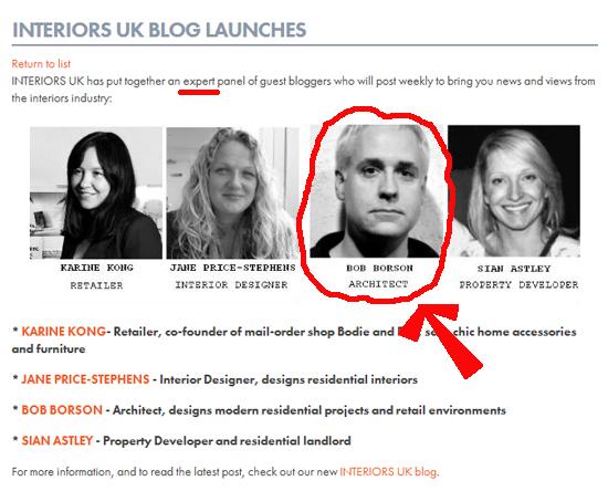 Bob-Borson Interiors UK Blog Launch
