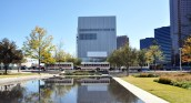 Wyly Theatre view from the Winspear Opera