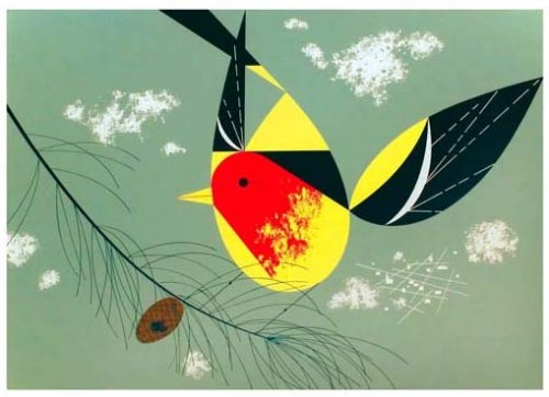 Charley Harper Western Tanager Ford Times