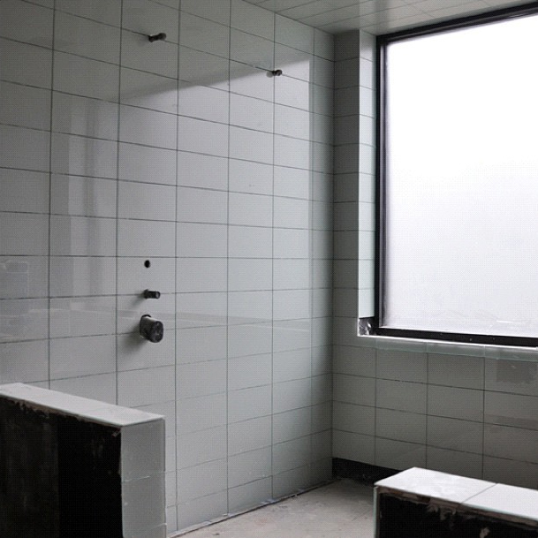 Modern House Glass Tile Bathroom Shower Life Of An Architect