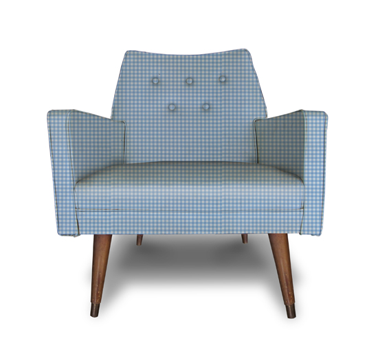 Blue gingham chair