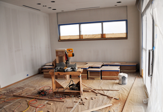 dirty jobsite - millwork trim and prep