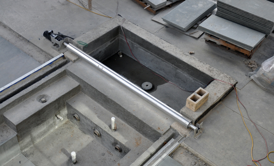 Pool cover roller and rails