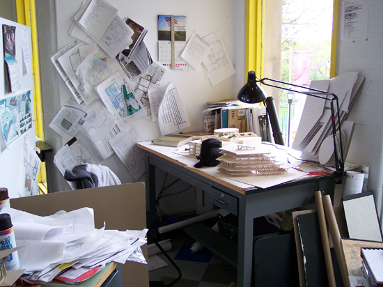 Architecture student work desks life of an architect for Architecture student