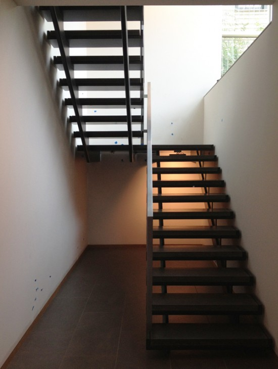 modern stairs - mostly done