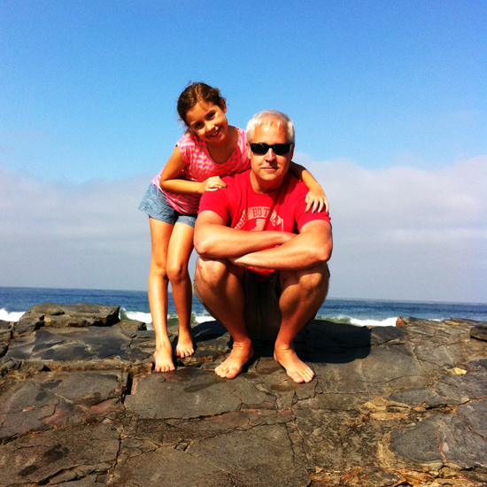 Bob and Kate sitting on a rock