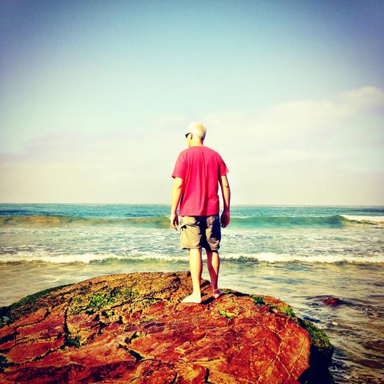 Bob standing on a rock