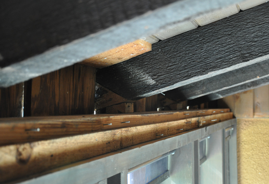 closeup of rafters