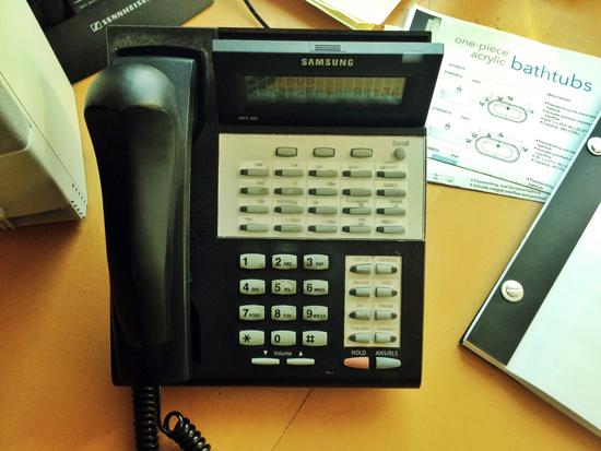 architect on the telephone