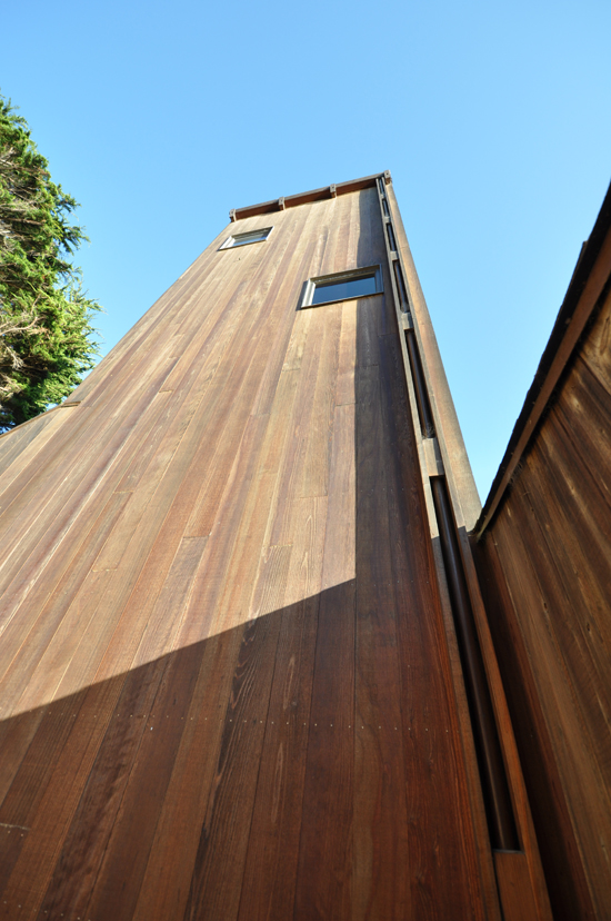 Condominium One at Sea Ranch - tower off parking court