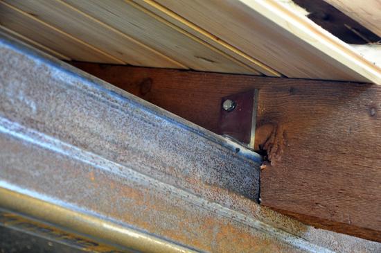 brackets at cedar beams