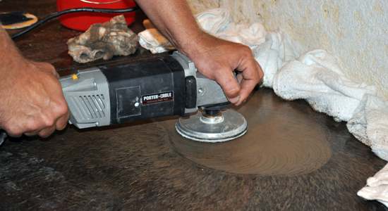 Concrete Grinding - testing hand equipment