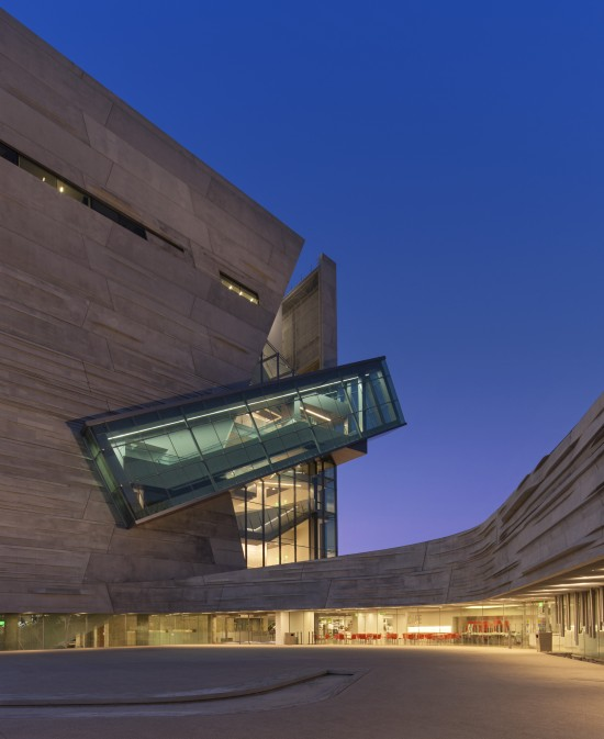 Perot Nature and Science - Plaza at night - Mark Knight Photography