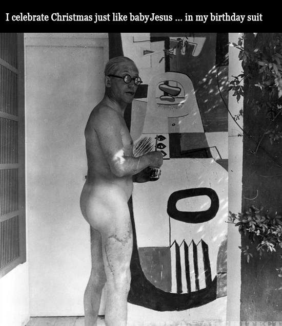 Architect Le Corbusier naked