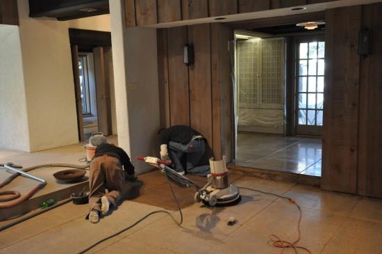 Concrete Polishing - by hand
