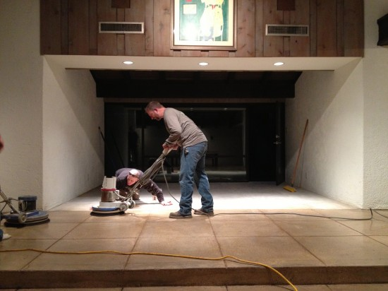Concrete Polishing - late hours ... again