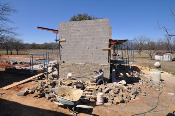 Cottonwood Modern - Pavilion stone work