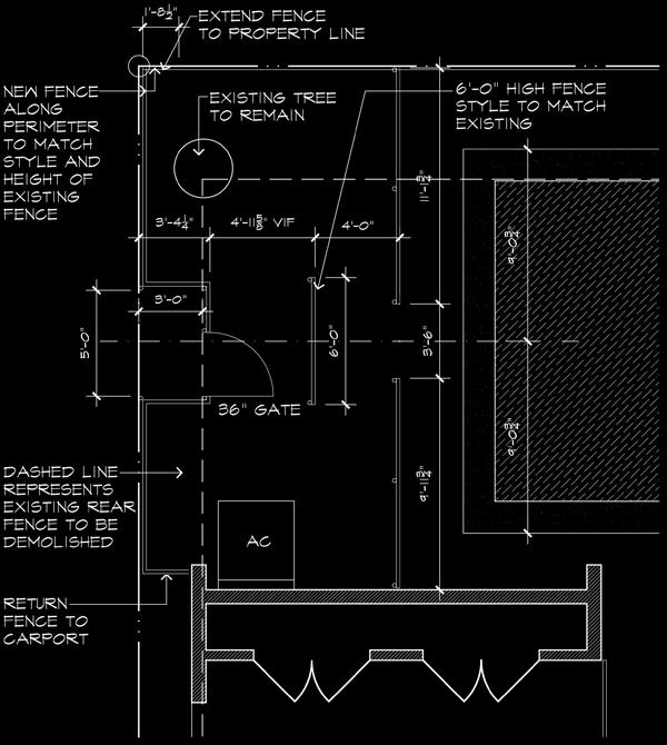 Borson Site Plan - New Fence Layout