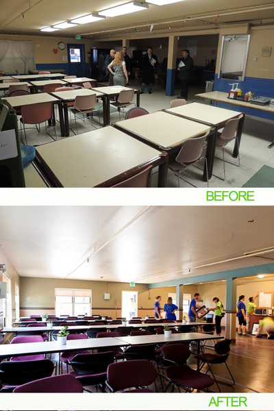 "AEC Cares Denver 2012 - Before and After ""Cafeteria"""