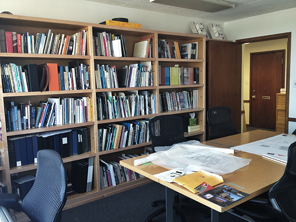 the conference room and library