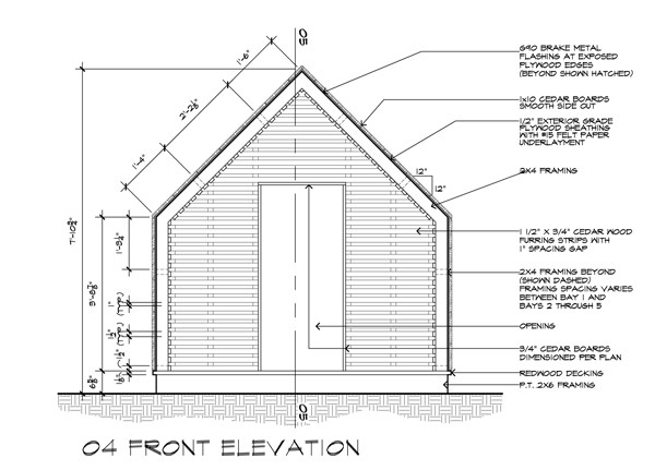 Lantern Playhouse Front Elevation CD