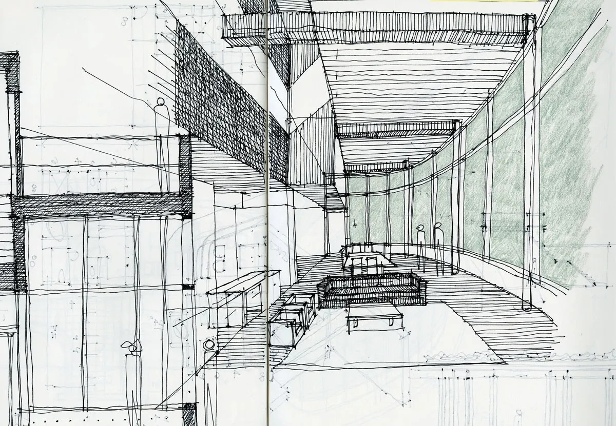 Architectural sketching life of an architect for Definition of form and space in architecture