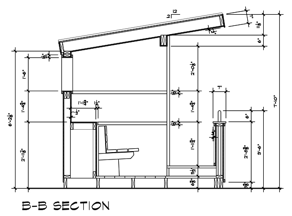2012 Dugout Playhouse CAD Drawing by Dallas Architect Bob Borson