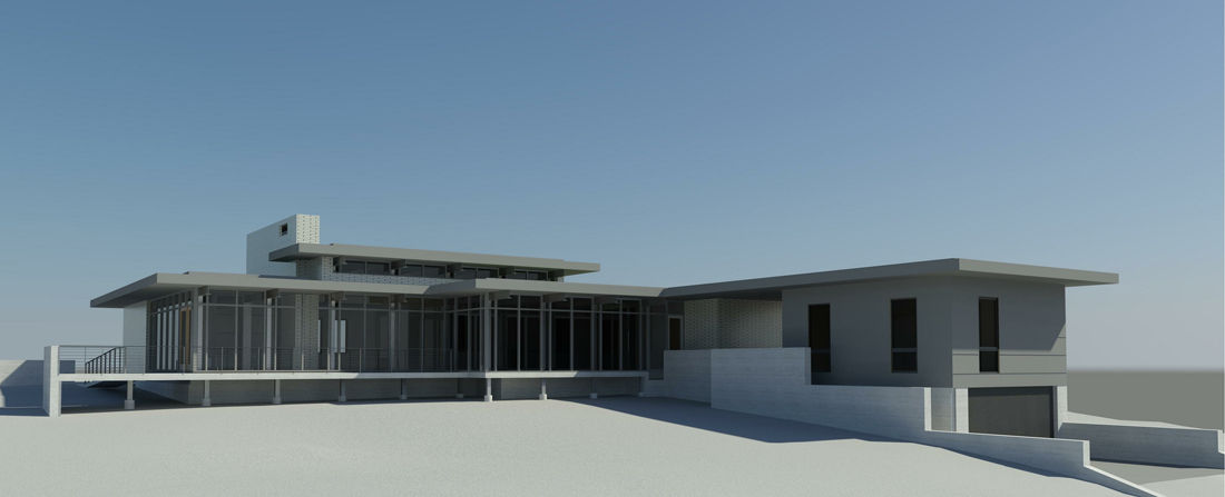 KHouse Modern Rear Elevation Perspective