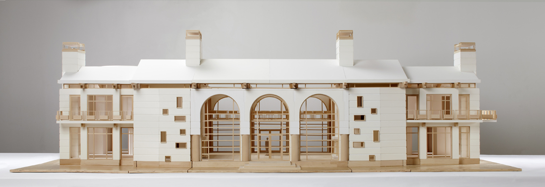 final front elevation photo of architectural model