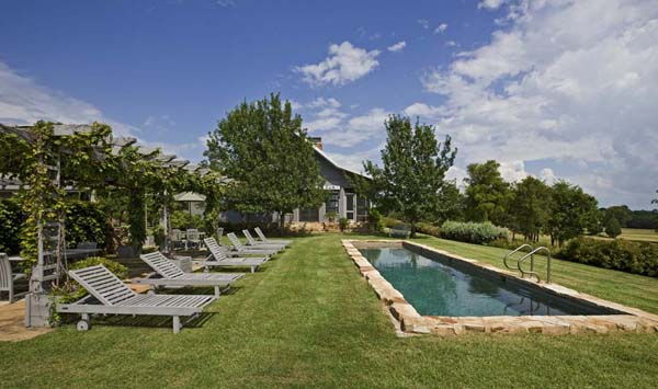 Lyday Farms pool area by Michael Malone Architects