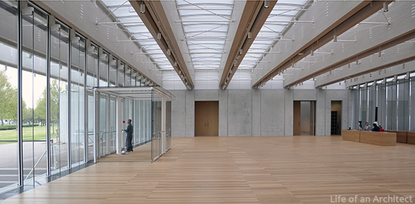 Renzo Piano Kimbell Museum Front Entry interior