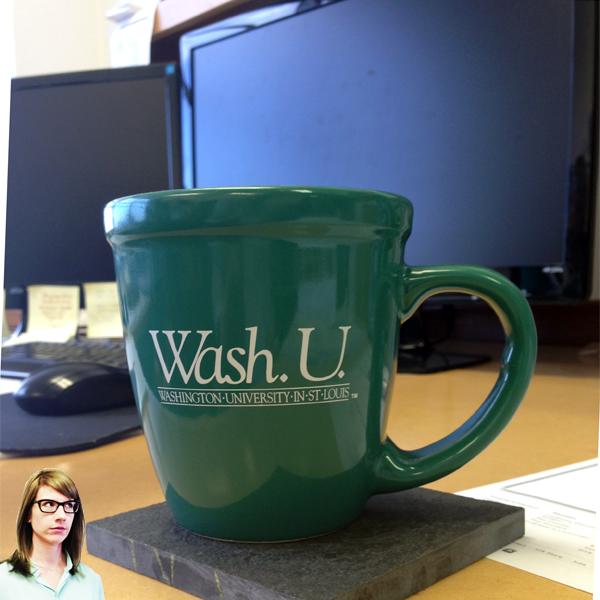 Architect Audrey Maxwell's coffee mug