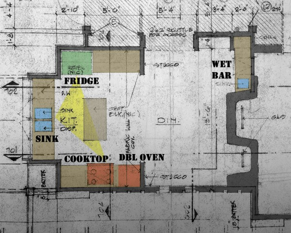 Bob Borson's existing kitchen plan