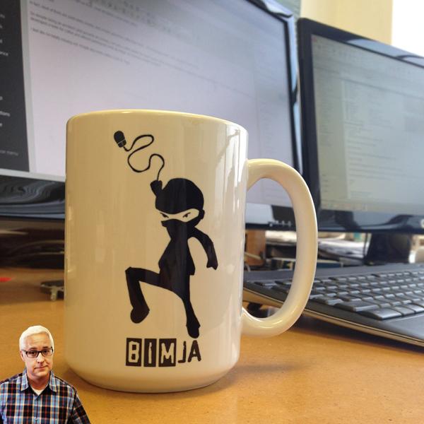 Architect Bob Borson's coffee mug