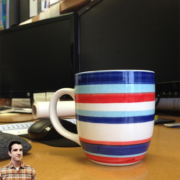Ryan Thomason's coffee mug
