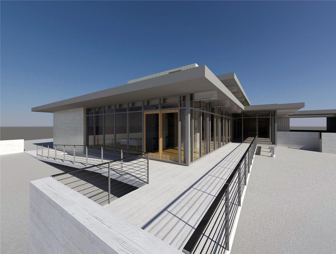 KHouse Modern BIM terrace view Aug 2013