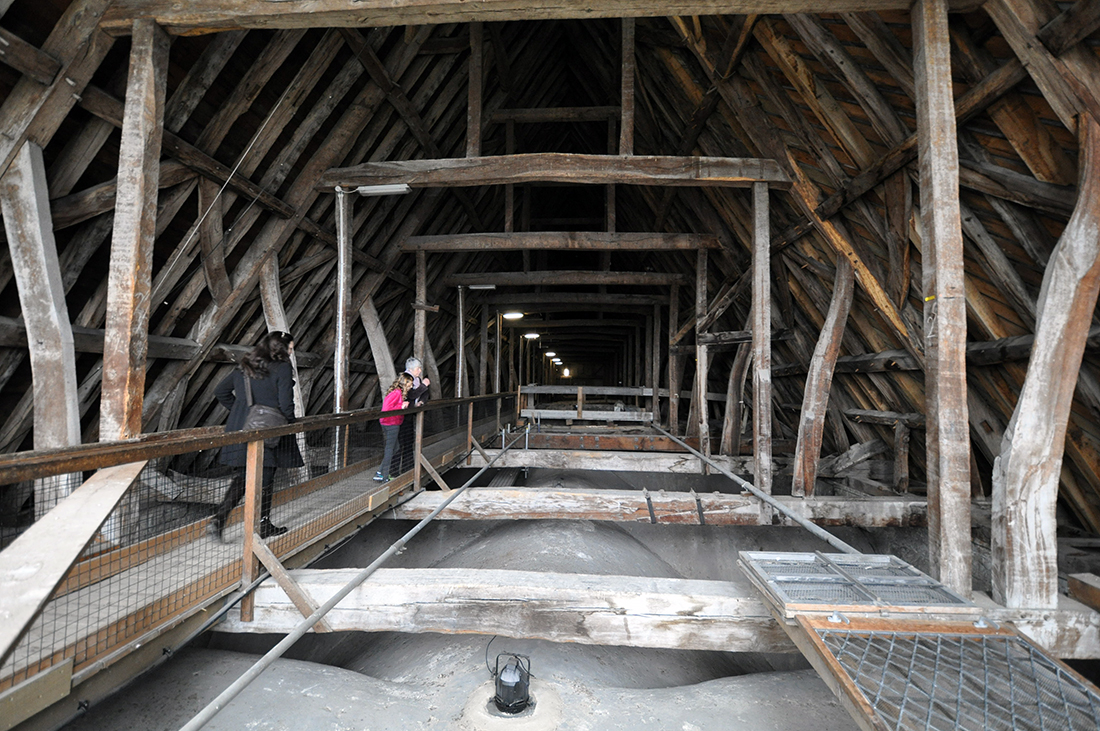 Salisbury Cathedral interior of roof