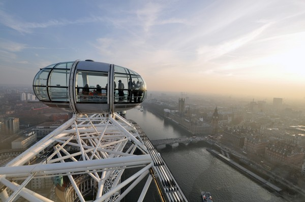 view from the top of the London Eye