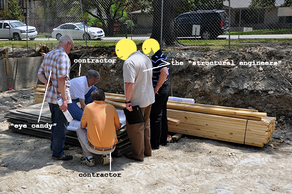 Site Meeting to discuss structural progress