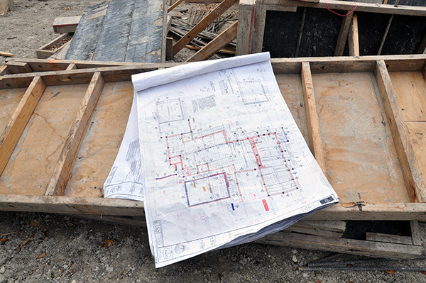 structural drawings on site