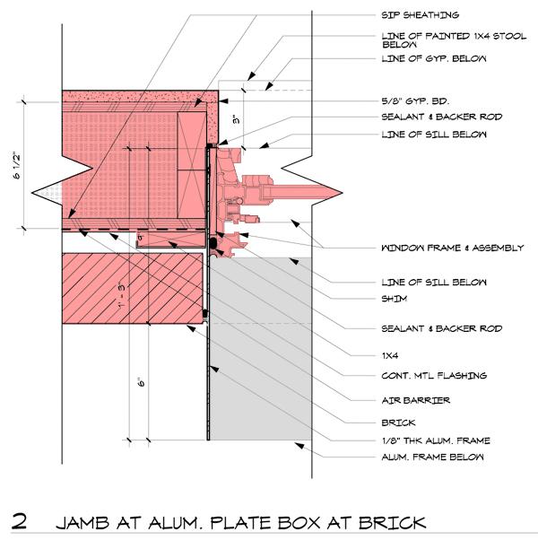 Aluminum window box detail