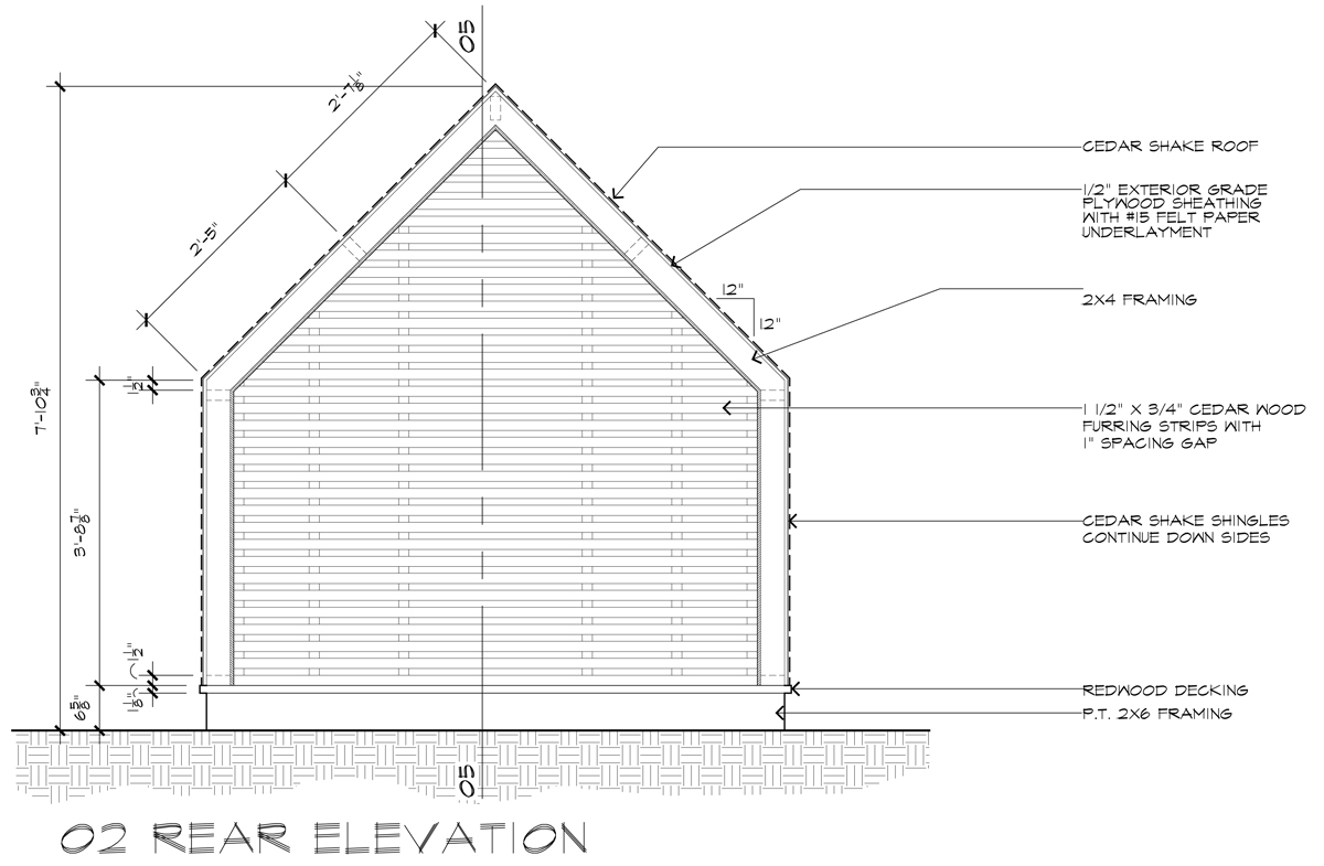 Lantern Playhouse 02 Rear Elevation