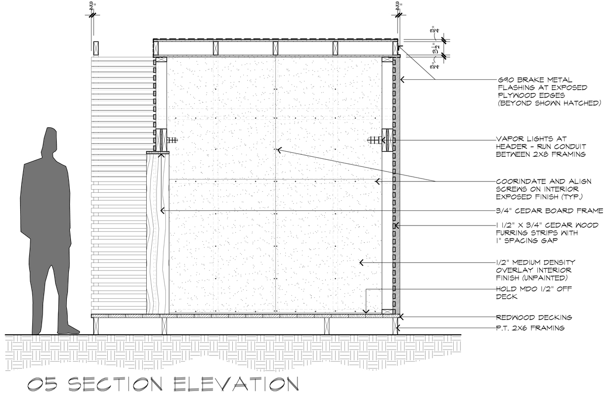 Lantern Playhouse 05 Section Elevation