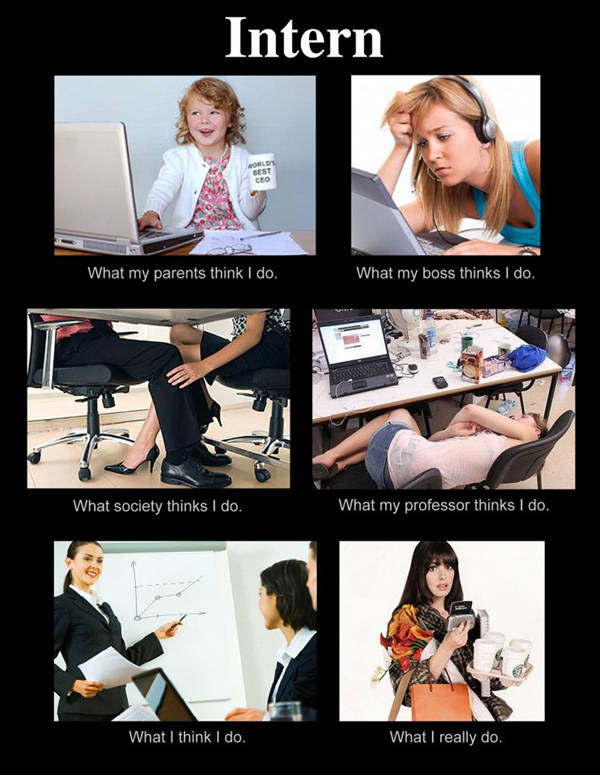 Intern What Thinks I Do Meme